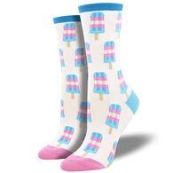Socksmith Design Women's Trans Pops Crew Sock