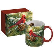 Lang December Dawn Cardinal Ceramic Coffee Mug