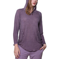 La Cera Women's Soft & Supple Hooded Knit Top