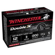 "Winchester Double X 12 GA 3"" 1-3/4 oz. #5 Shotshell Ammo (10)"
