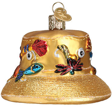 Old World Christmas Fisherman's Hat Ornament