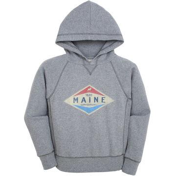Lakeshirts Boys Blue 84 Slick Valve Moose Hooded Sweatshirt