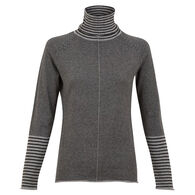 Krimson Klover Women's Striped Skye Wool Turtleneck