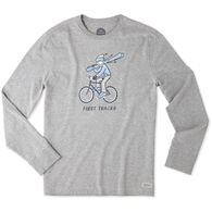 Life is Good Men's First Tracks Long-Sleeve Crusher T-Shirt