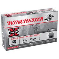 "Winchester Super-X 12 GA 2-3/4"" 1 oz. Rifled HP Slug Ammo Value Pack (15)"