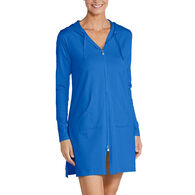 Coolibar Women's Cabana Hoodie UPF+50 Swimwear Cover Up