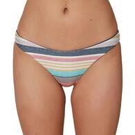 O'Neill Women's Rockley Cruz Stripe Revo Classic Bikini Bottom