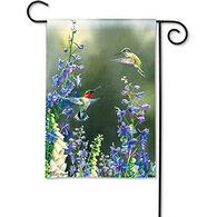 BreezeArt Hummingbird Garden Garden Flag