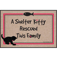 High Cotton Doormat - Shelter Kitty