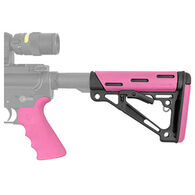 Hogue Grooved Beavertail Collapsible Buttstock Pink AR15 / M16 Kit