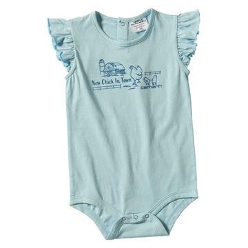 Carhartt Infant Girls Flutter Sleeve Short-Sleeve Bodyshirt