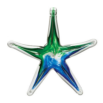 "Kitras Starfish 6"" Glass Ornament"