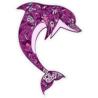 Sticker Cabana Dolphin Sticker