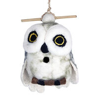 Wild Woolies Snowy Owl Hand-Felted Birdhouse