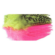 Wapsi Strung Rooster Saddle Dyed Over White Fly Tying Material