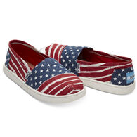 TOMS Boy's Americana Canvas Alpargata Slip-On