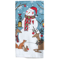 Kay Dee Designs Woodland Christmas Snowman Terry Towel