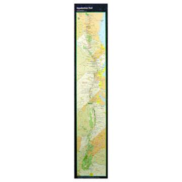 Appalachian Trail Conservancy Appalachian Trail Poster Map-Strip