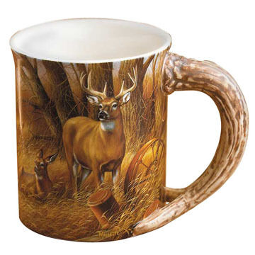 Wild Wings Rustic Retreat Deer Sculpted Mug