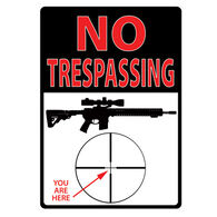 Rivers Edge No Trespassing You Are Here Embossed Tin Sign