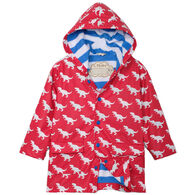 Hatley Toddler Boy's T-Rex Silhouettes Color Changing Rain Jacket