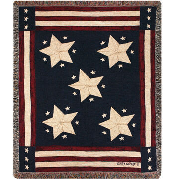 Manual Woodworkers & Weavers Long May It Wave Tapestry Throw