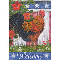 Carson Home Accents Flagtrends Patriotic Rooster Garden Flag