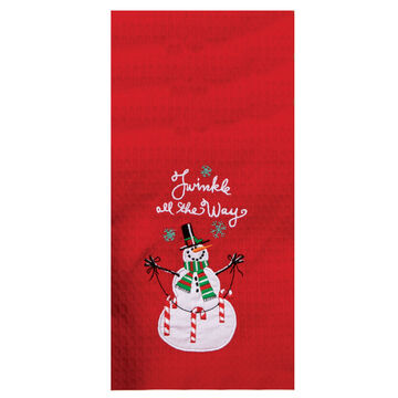 Kay Dee Designs Snowplace Like Home Embroidered Waffle Towel