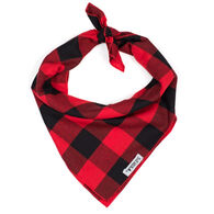 The Worthy Dog Large Buffalo Plaid Dog Bandana