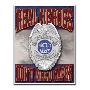 Desperate Enterprises Real Heroes Policemen Tin Sign
