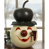Meadowbrooke Gourds Walter Medium Lit Snowman Head Gourd