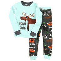 Lazy One Boys' Born To Be Wild Moose Pajama Set