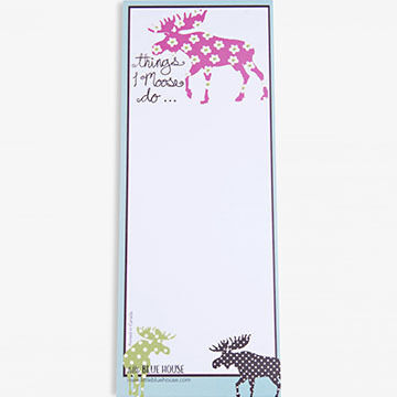 Hatley Things I Moose Do Note Pad