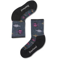 SmartWool Youth Hike Light Fly And Lure Print Crew Sock