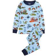 Hatley Boy's Sea Monsters Organic Cotton Pajama Set
