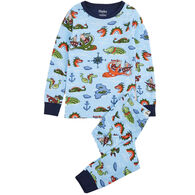 Hatley Toddler Boy's Sea Monsters Organic Cotton Pajama Set