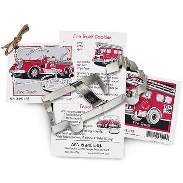 Ann Clark Tin Cookie Cutter - Firetruck