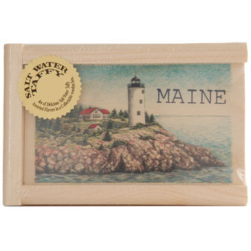 Maine Line Products Large Taffy Box - Lighthouse Scene