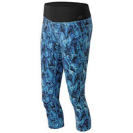 New Balance Women's Premium Performance Print Capri Tight