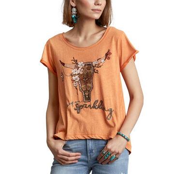 Odd Molly Womens Keep On Sparkling Short-Sleeve T-Shirt