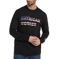 Wolverine Men's Americana Graphic Long-Sleeve T-Shirt