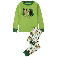 Hatley Toddler Boy's Little Blue House May The Forest Be With You Pajama Set