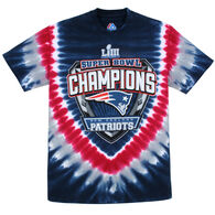 Liquid Blue Women's Patriots Superbowl Champions Short-Sleeve T-Shirt