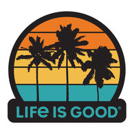 Life is Good Get Away Palms Decal