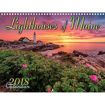 Maine Scene Lighthouses of Maine 2018 Wall Calendar