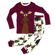 Lazy One Girls' Moose Hug Pajama Set