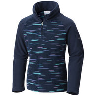 Columbia Girls' Glacier II Fleece Print Half-Zip Pullover
