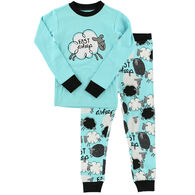 Lazy One Toddler Girl's Fast Asheep PJ Set