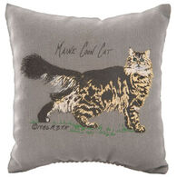 """Maine Balsam Fir 4"""" x 4"""" Maine Coon Cat Balsam Pillow"""
