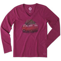 Life is Good Women's Family Ties VW Wagon Crusher Vee Long-Sleeve Shirt